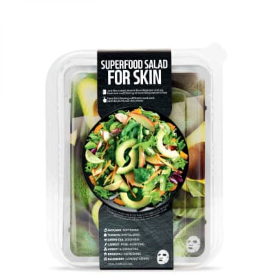 Superfood Salad for Skin Facial Sheet Mask 7 Set When Your Skin Feels Dry and Rough - Superfood Salad for Skin набор из 7 тканевых масок для сухой и грубой кожи